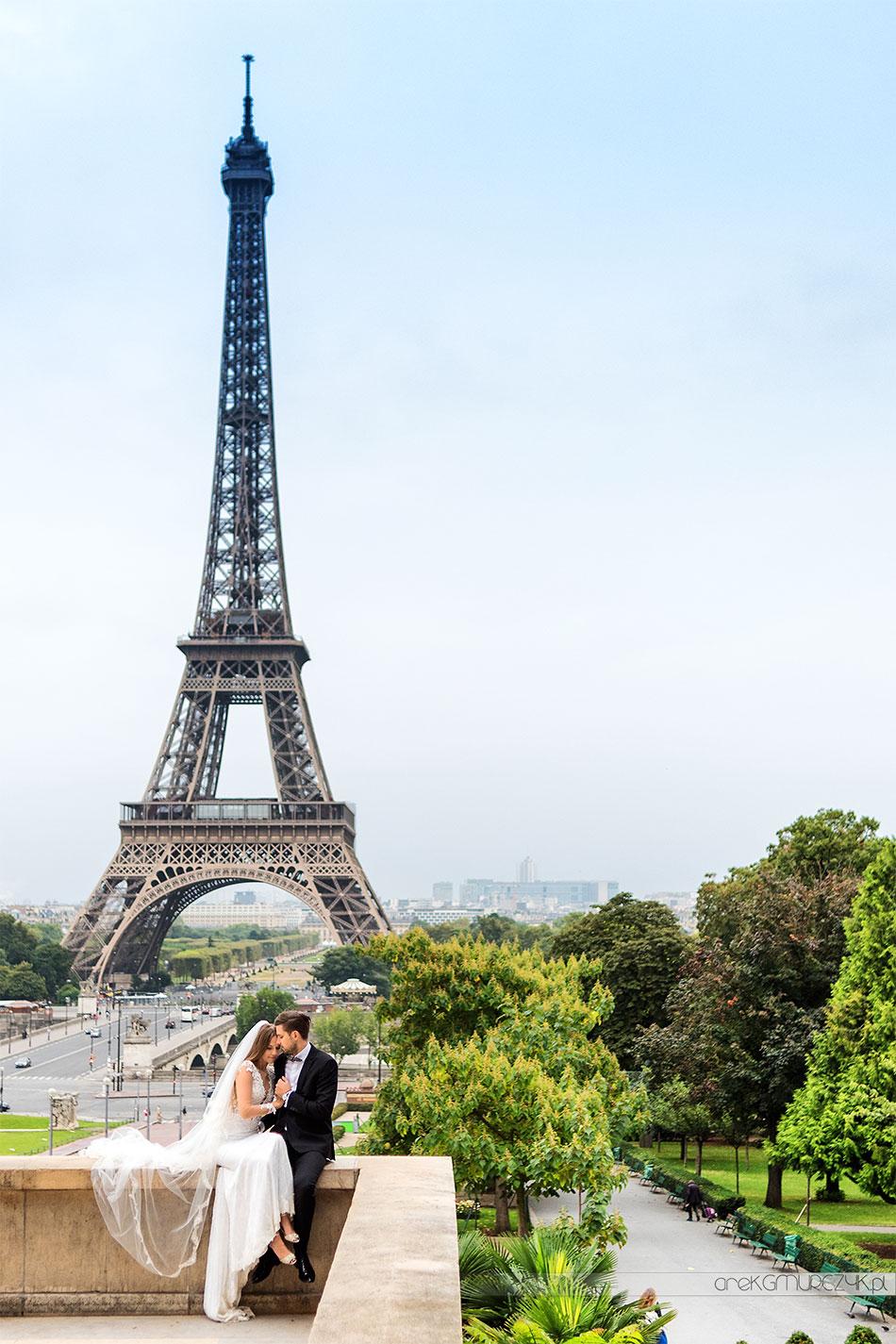 Tour the Eiffel sesja ślubna