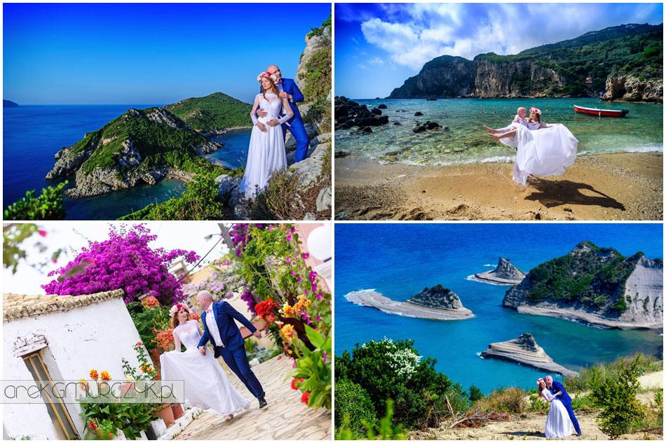 korfu sesja ślubna