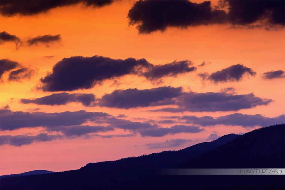 wschód słońca w Tatrach, sesja ślubna
