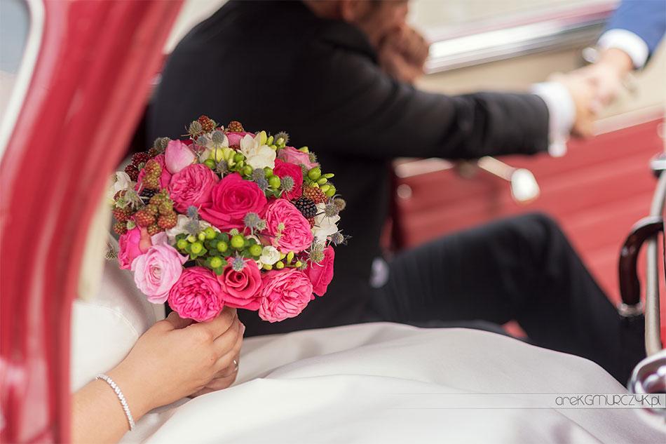 bukiet ślubny, panna młoda Płock