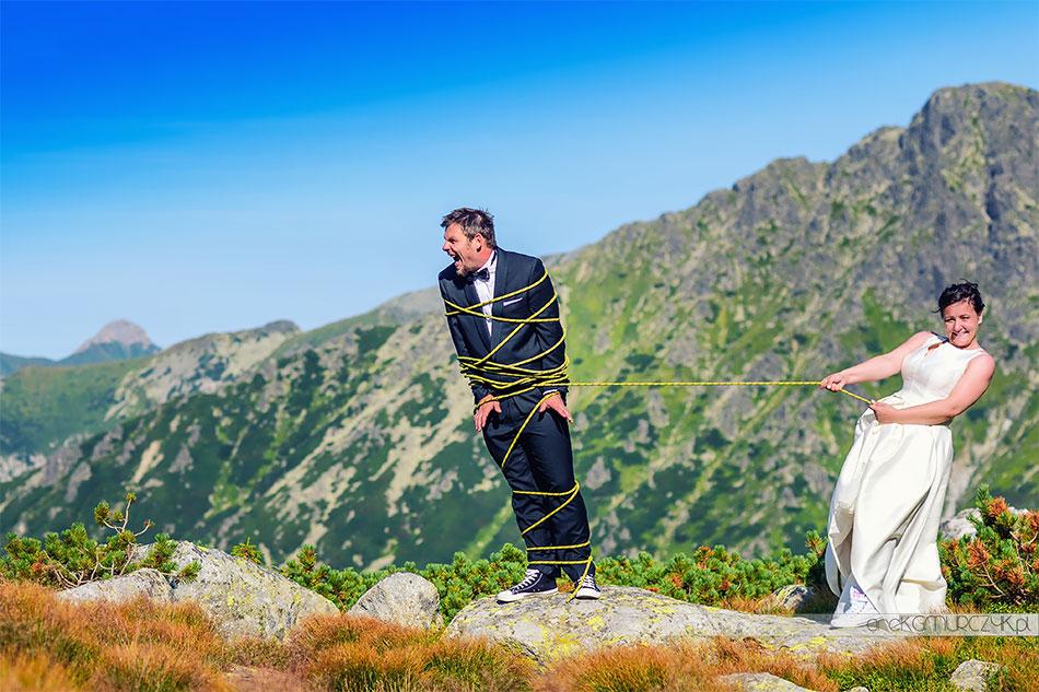zdjecia slubne w gorach fotograf
