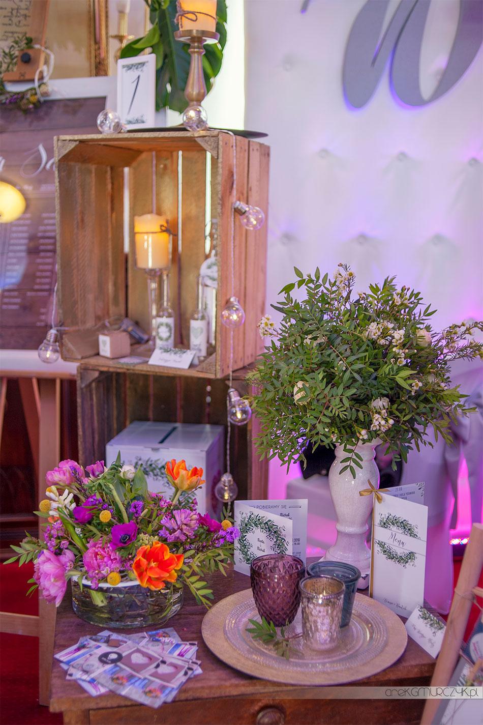 dekoracje na wesele, zaproszenia ślubne Polka Studio Płock