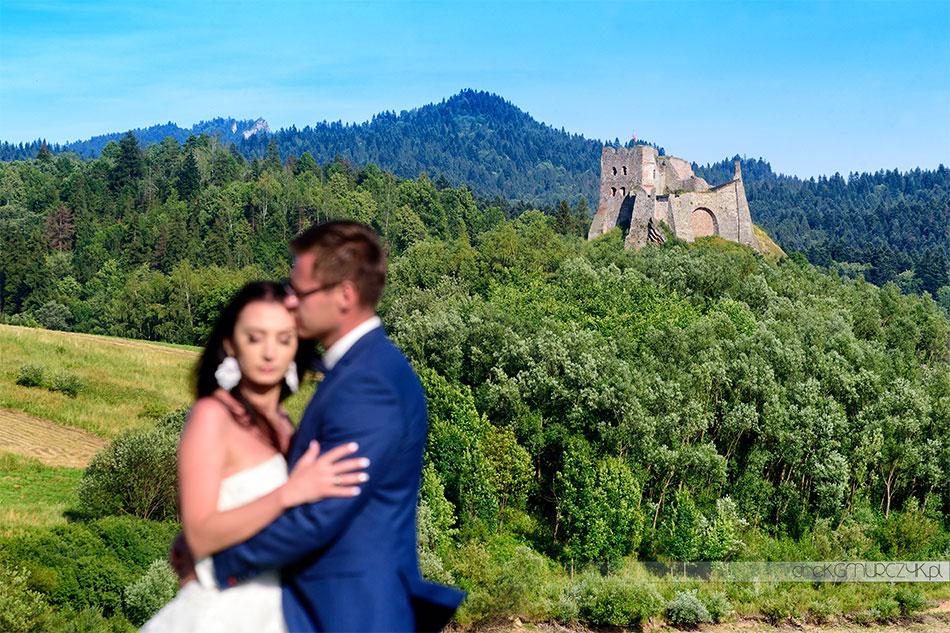 sesja ślubna Zamek w Czorsztynie