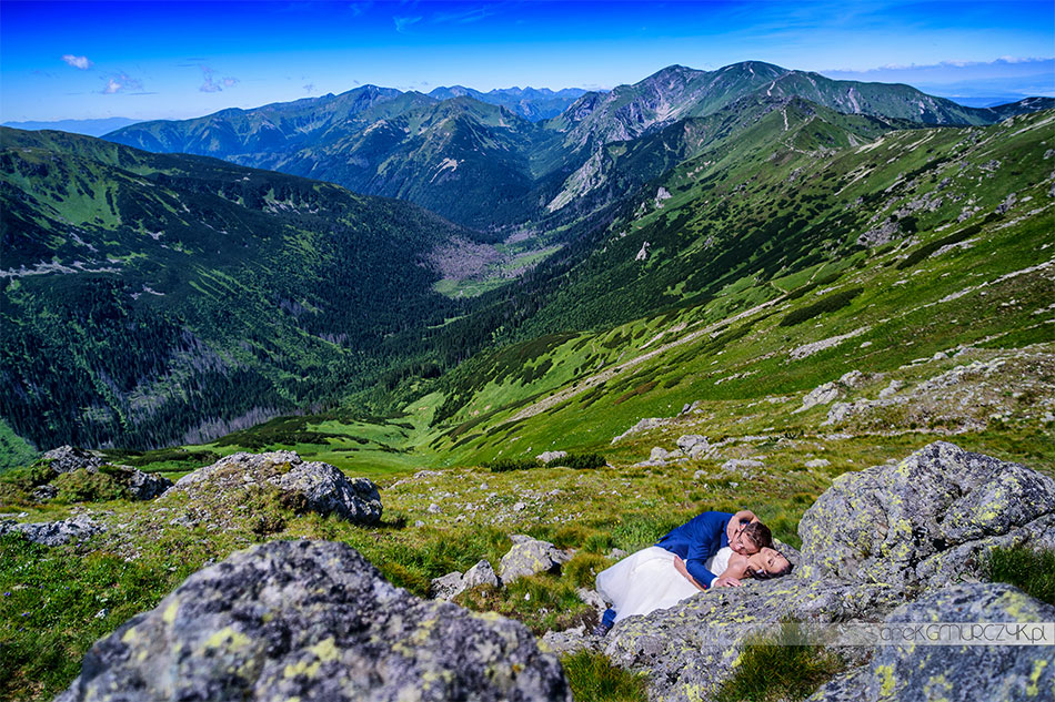 zdjecia slubne w gorach