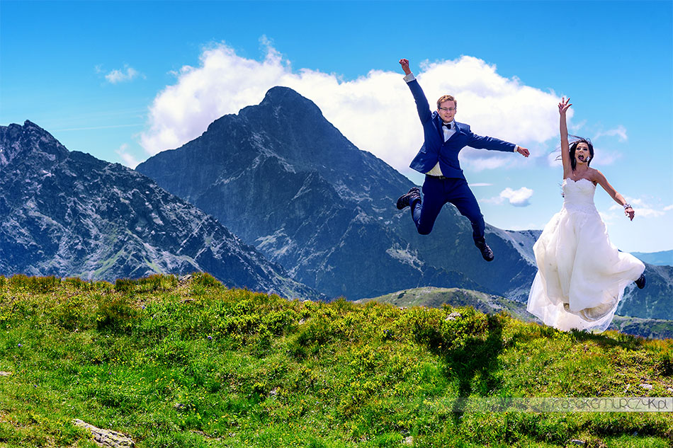 fotograf ślubny Zakopane, sesja ślubna w górach