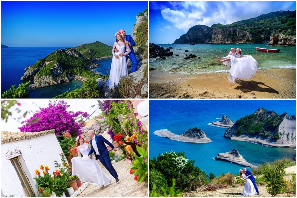 zdjęcia ślubne Korfu