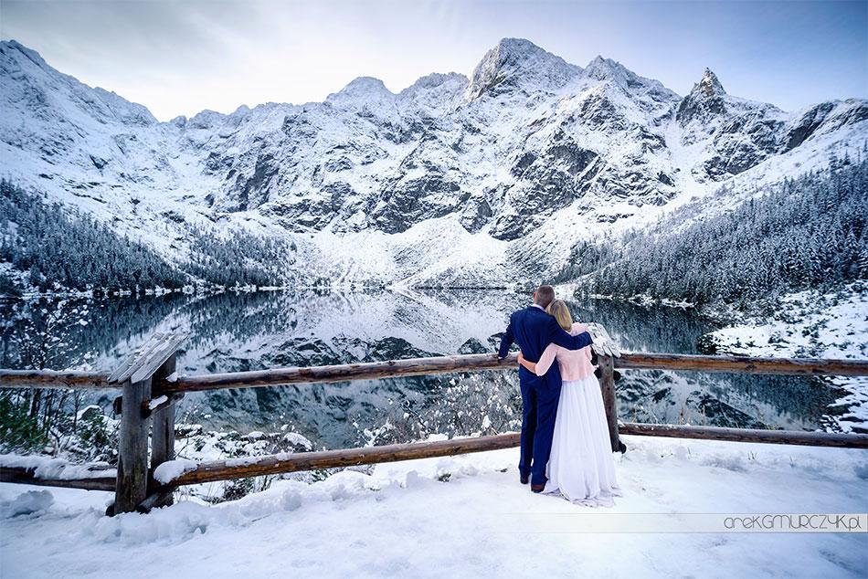 sesja ślubna w górach zimą
