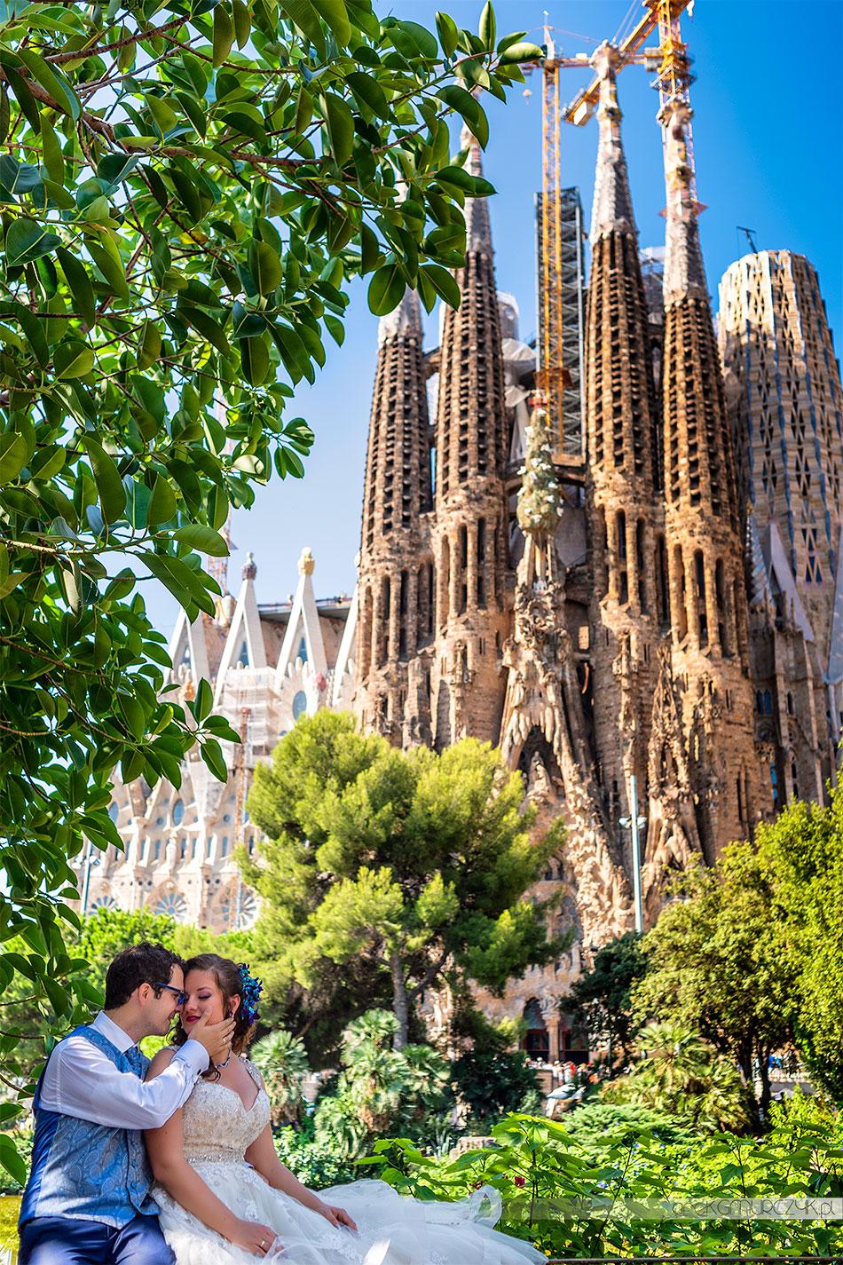 Sagrada Familia Barcelona zdjęcia ślubne