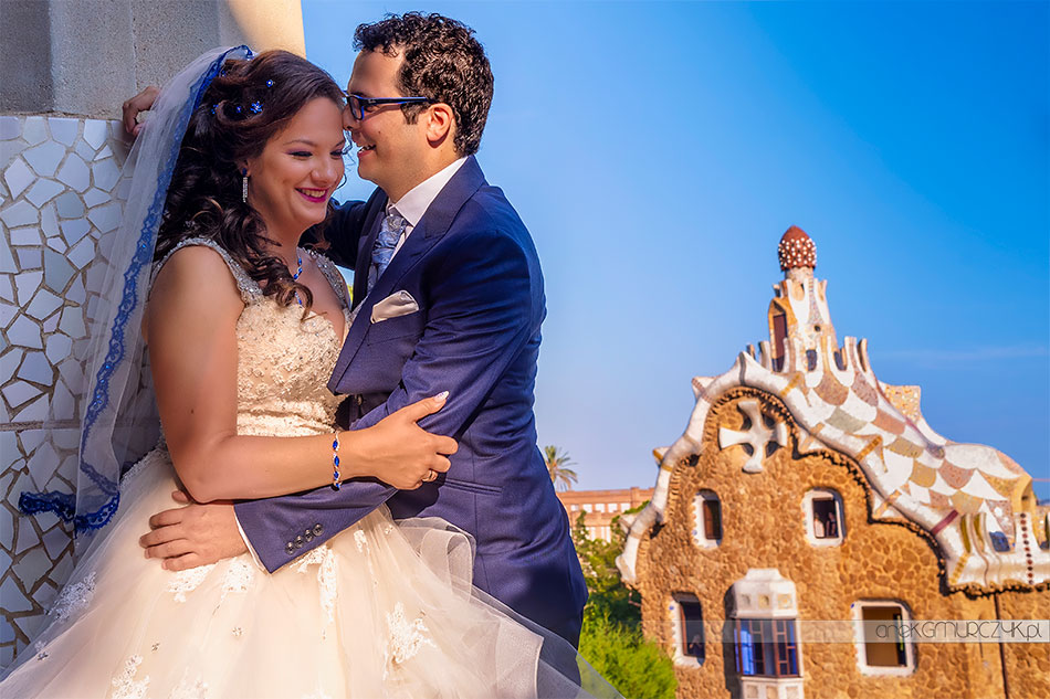plener ślubny w Parku Güell Barcelona
