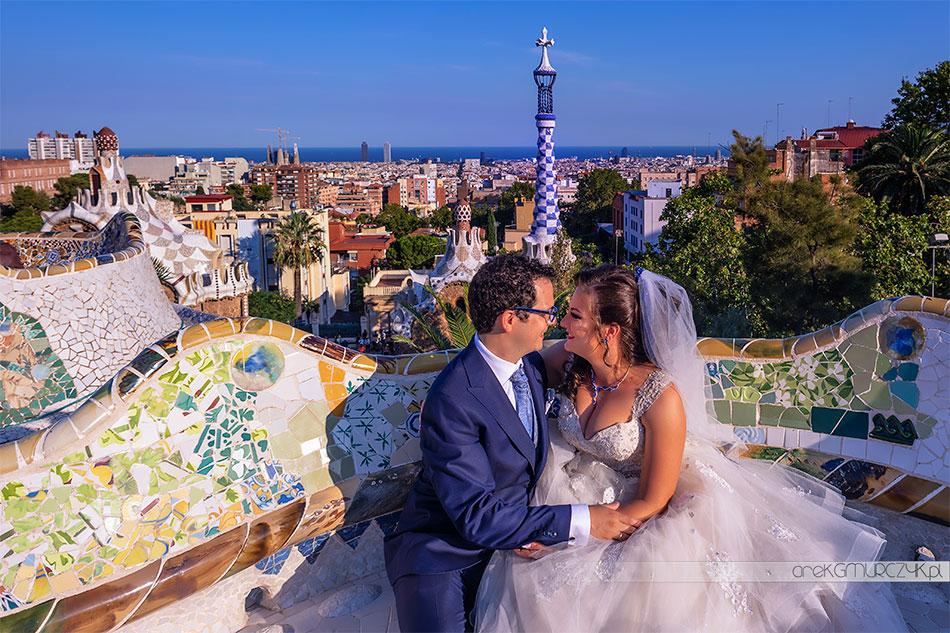 zdjęcia ślubne Park Güell Barcelona