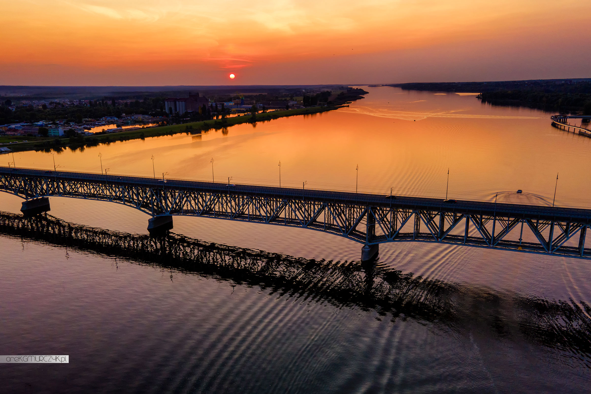 Most im. Legionów Piłsudskiego z drona.