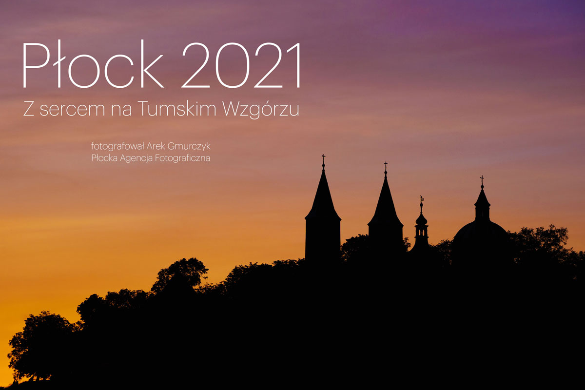 Okładka kalendarza Z sercem na Tumskim Wzgórzu Płock 2021
